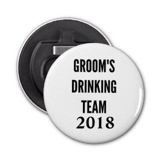Groom's drinking team 2018 bottle opener