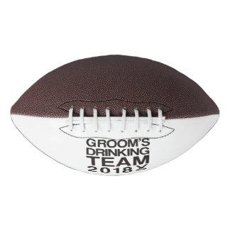 Groom's drinking team 2018 football