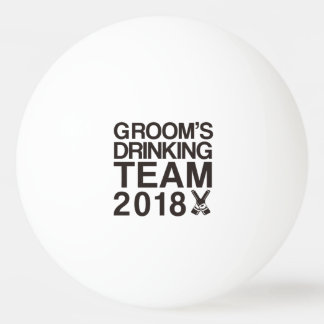 Groom's drinking team 2018 ping pong ball