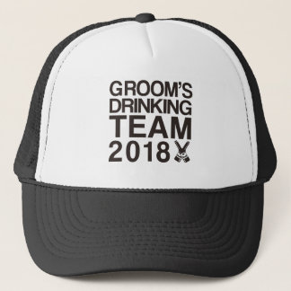 Groom's drinking team 2018 trucker hat