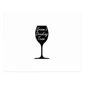 Groom's Drinking Team  Groom Fuuny Party Postcard