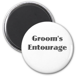Groom's Entourage Fridge Magnets