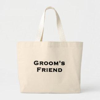 groom's friend wedding gear tote bags