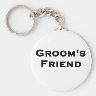 groom's friend wedding gear basic round button keychain