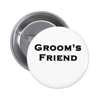 groom's friend wedding gear buttons