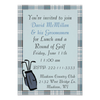 Groom's Golf Party Invitation