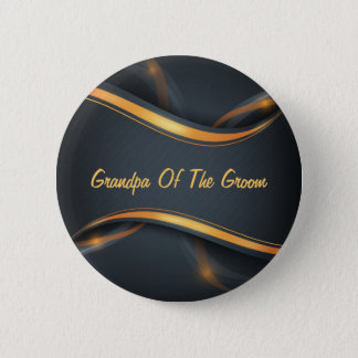 Groom's Grandpa (b/g) Customizable 2 Inch Round Button