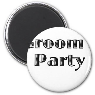Groom's Party 2 Inch Round Magnet