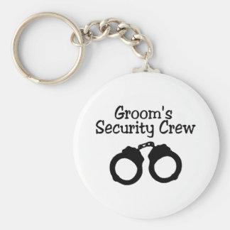 Grooms Security Crew Basic Round Button Keychain