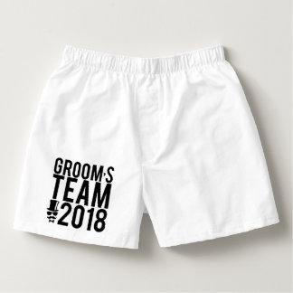 Groom's team 2018 boxers