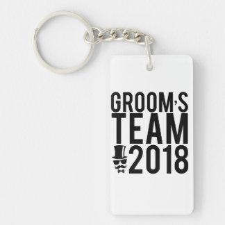 Groom's team 2018 keychain