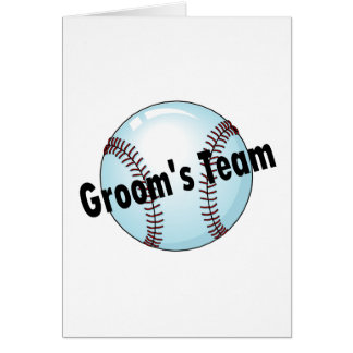 Groom's Team (Baseball) Card
