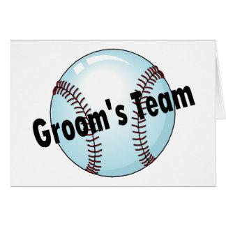 Grooms Team Baseball Greeting Card