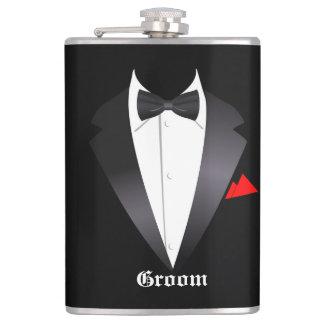 Groom's Tuxedo Shirt - Flask