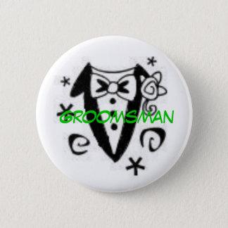 Groomsman 2 Inch Round Button