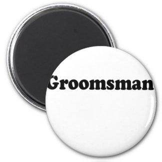 groomsman 2 inch round magnet