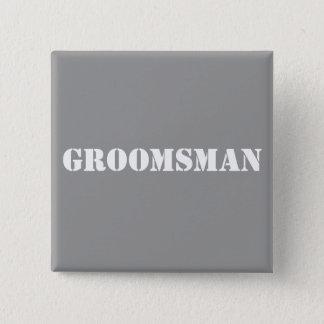 Groomsman 2 Inch Square Button