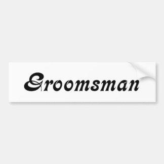 Groomsman Autocollant De Voiture