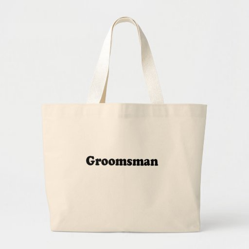 groomsman canvas bags