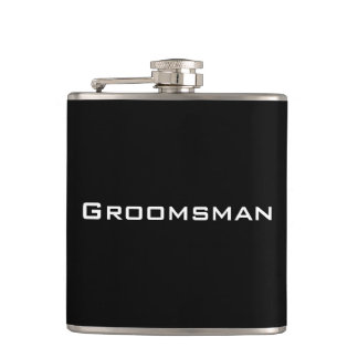 Groomsman Black Flask