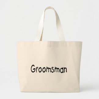 Groomsman Blk Tote Bags