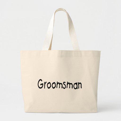 Groomsman (Blk) Tote Bags