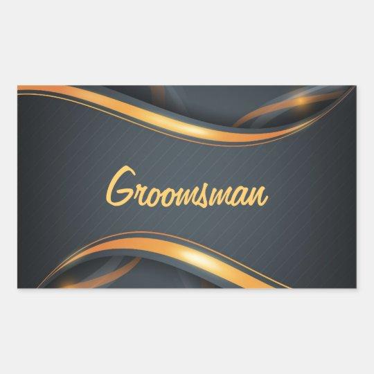 Groomsman (blk/gd) sticker