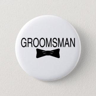 Groomsman Bowtie 2 Inch Round Button