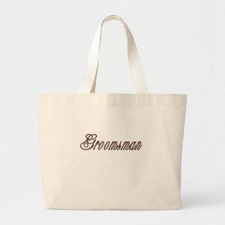 Groomsman Classy Browns Canvas Bag