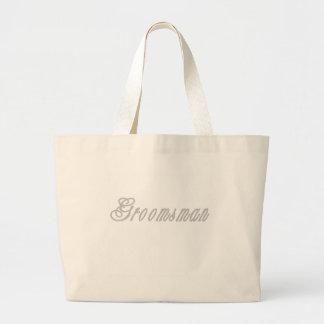 Groomsman Classy Grays Canvas Bag