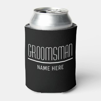 Groomsman Custom Name and Date Can Cooler