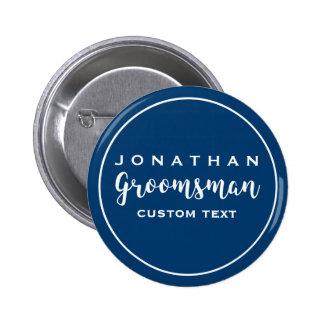 Groomsman Custom Wedding Favor Modern Monogram 2 Inch Round Button