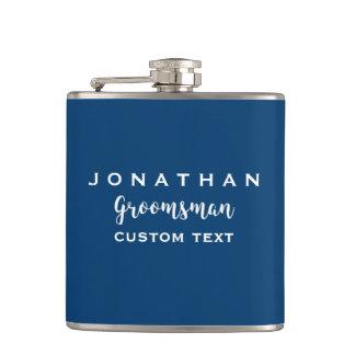 Groomsman Custom Wedding Favor Modern Monogram Hip Flask