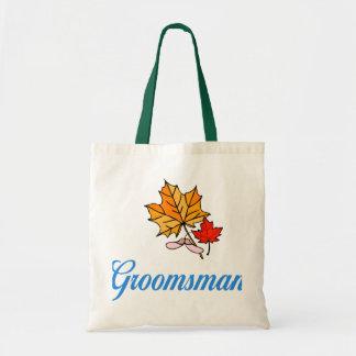Groomsman - fall canvas bag