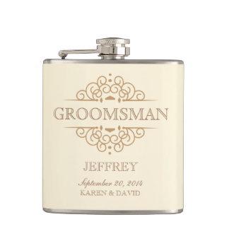 Groomsman Gift Vintage Wedding Party Flask