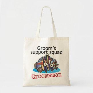 Groomsman Groom's Squad Budget Tote Bag