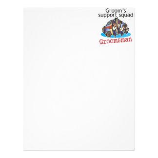 Groomsman Groom's Squad Letterhead Template