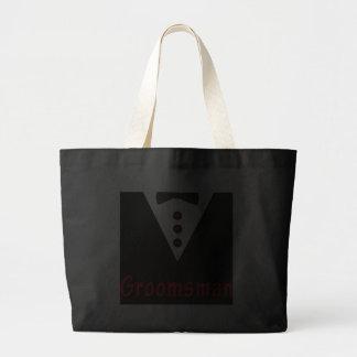 Groomsman In Tux Jumbo Tote Bag