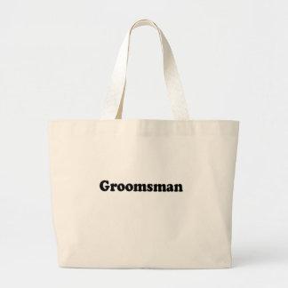 groomsman jumbo tote bag