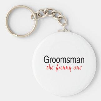 Groomsman le drôle porte-clé rond