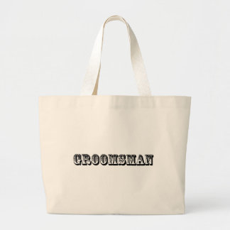 Groomsman - Old West Jumbo Tote Bag