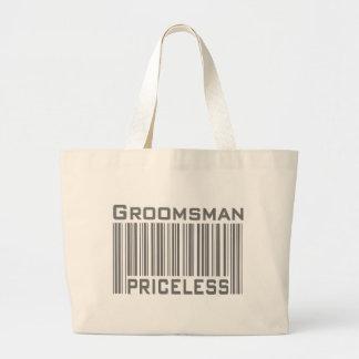 Groomsman Priceless Canvas Bag