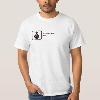 Groomsman Pro (small logo) T-Shirt