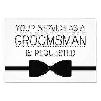 "Groomsman Request | Groomsmen 3.5"" X 5"" Invitation Card"