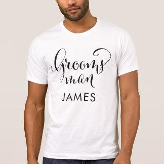 Groomsman Shirt   Black Script Writing