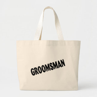 Groomsman (Slanted Black) Canvas Bags