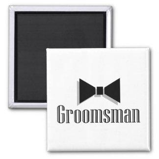 Groomsman Square Magnet