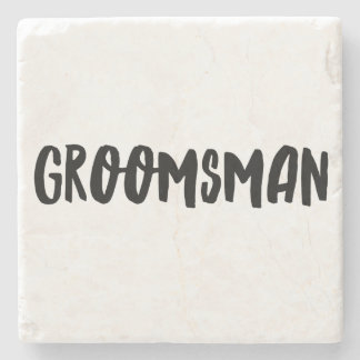 Groomsman Stone Coaster