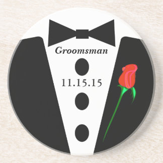 Groomsman Tuxedo Coasters