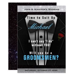 Groomsman Tuxedo Invitation Suit Up
